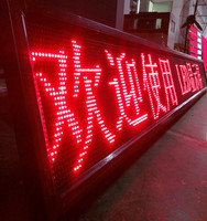 P10 Waterproof Outdoor Single Red Color LED Display Panel