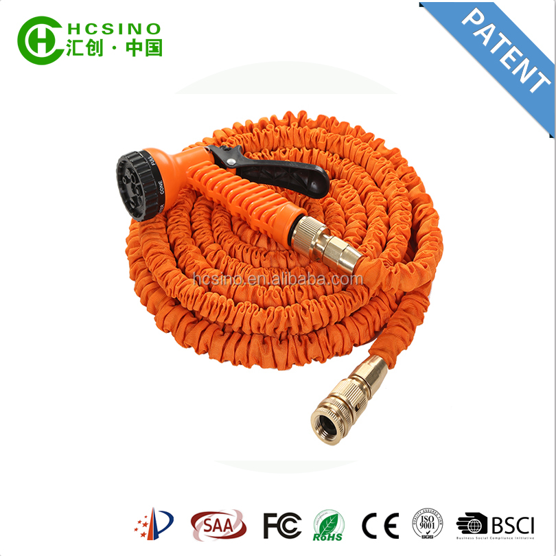 high pressure retractable garden hose with orange&black spray gun