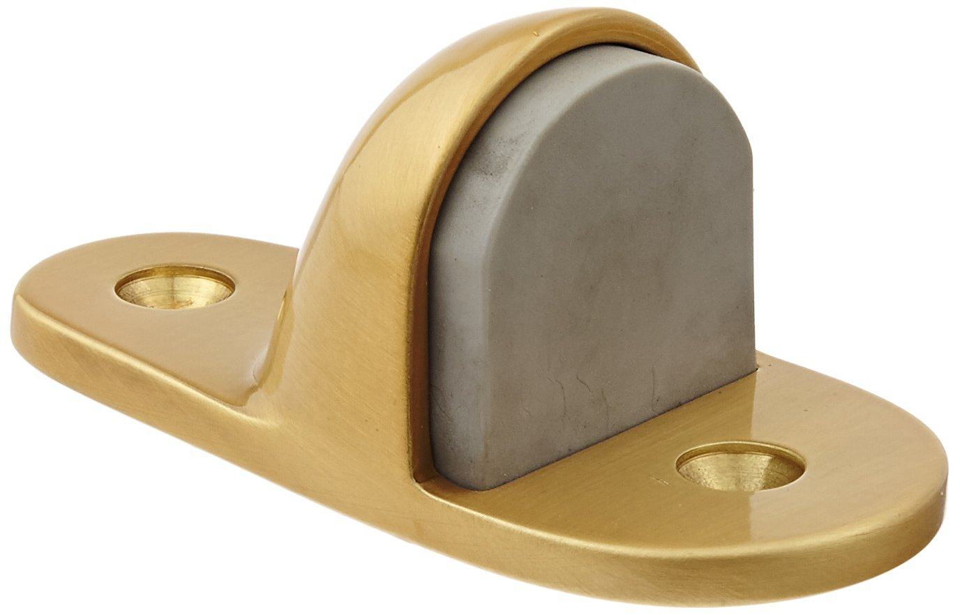 2 Base Width x 4 Base Length 1-1//8 Height Rockwood 445.10B Bronze Heavy Duty Door Stop #12 X 1-1//2 FH SMS Fastener with Plastic Anchor and 2-24 x 1 FH MS Fastener with Lead Anchor Satin Oxidized Oil Rubbed Finish