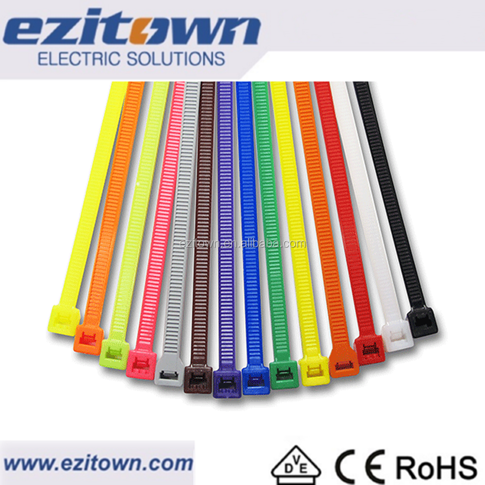 CT flexible cold resisting small large cable ties long low thin wide numbered factory supplier plastic wire electrical zip ties