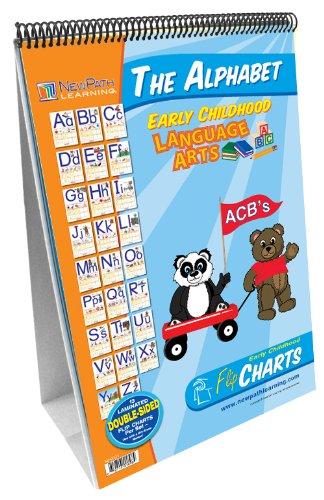 NewPath Learning Alphabet Curriculum Mastery Flip Chart Set, Early Childhood