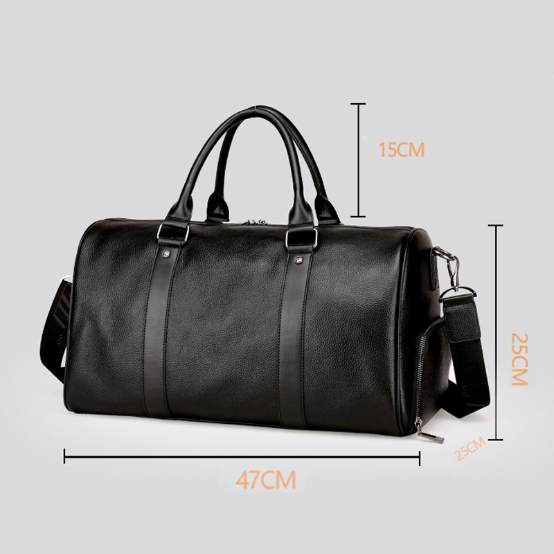 ae2a9c7defda Blue Color Custom Leather Duffle Bag For Man With Newest Design ...
