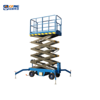 building cleaning lift Movable scissor lift elevated work platform
