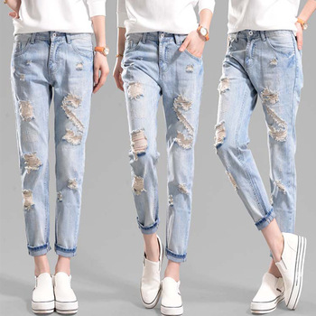Woman Brand Name Girl Fancy Ripped Slim Jeans From Www Sexy Com