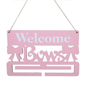 Bar shop pink wooden house decoration welcome wall hanging plaque
