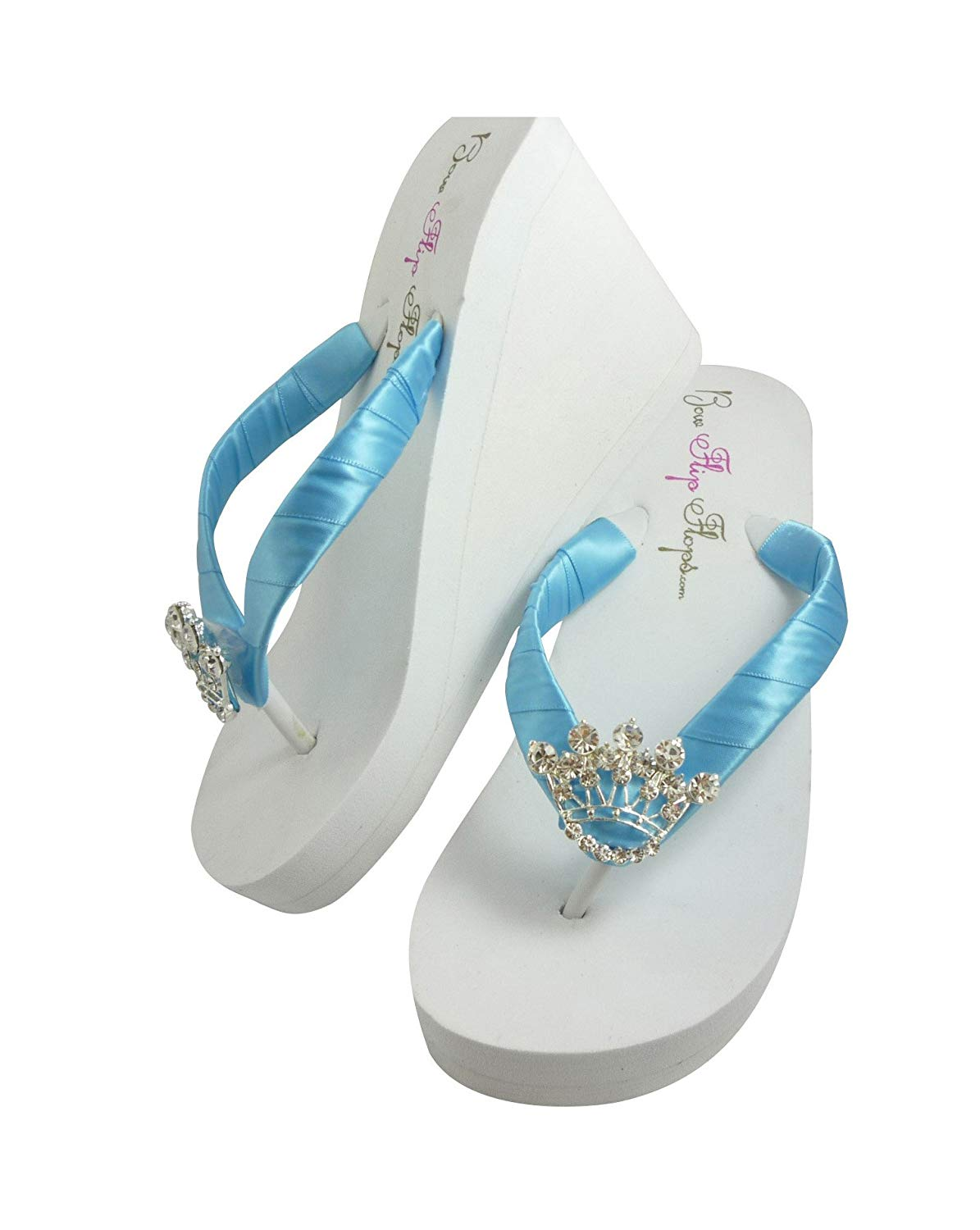 b4459a28c Get Quotations · Princess Wedding Wedge Flip Flops