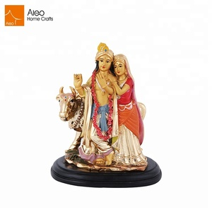 Decoration india water plating polyresin idol hindu god resin statues