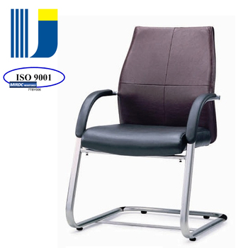 Elegant cantilever visitors/waiting/side guest chair with leather or fabric upholstered CB03BV