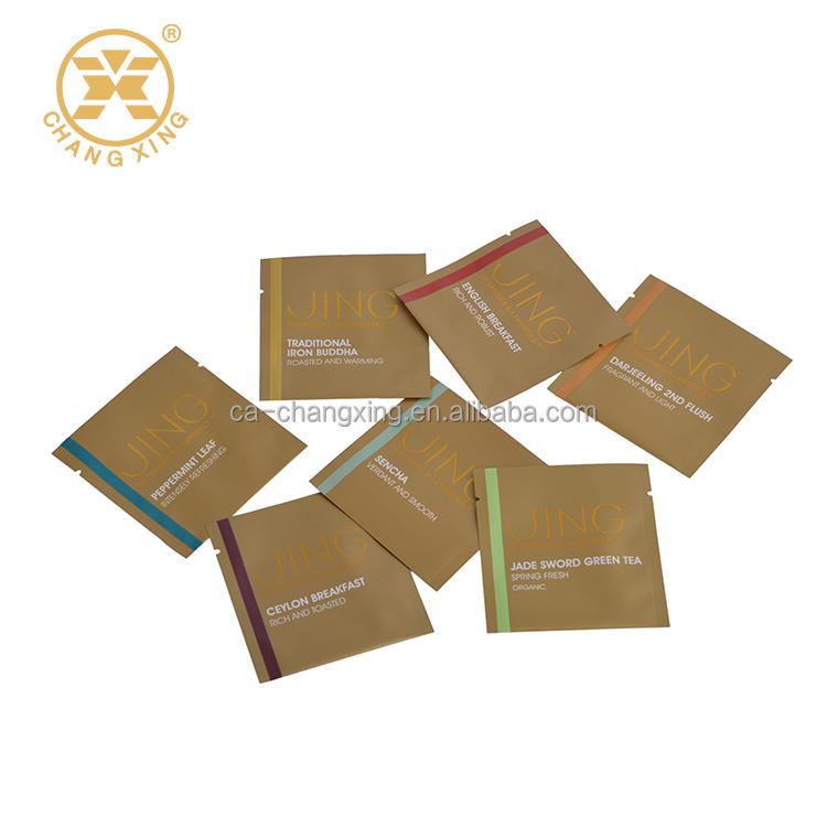 Green Coffee Tea Bags Plastic Sachet Packaging Bag Small Sugar Empty