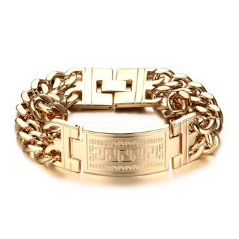 Js 018 New Design Gold Bracelet Designs Men Motorcycle Chain Boy