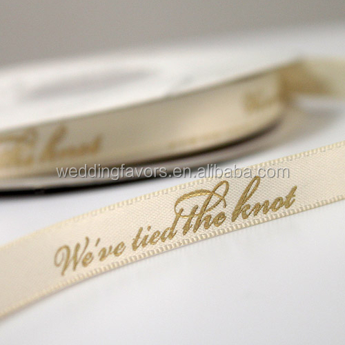 We've Tied The Knot Ribbon (4 Sizes - 31 Colors)