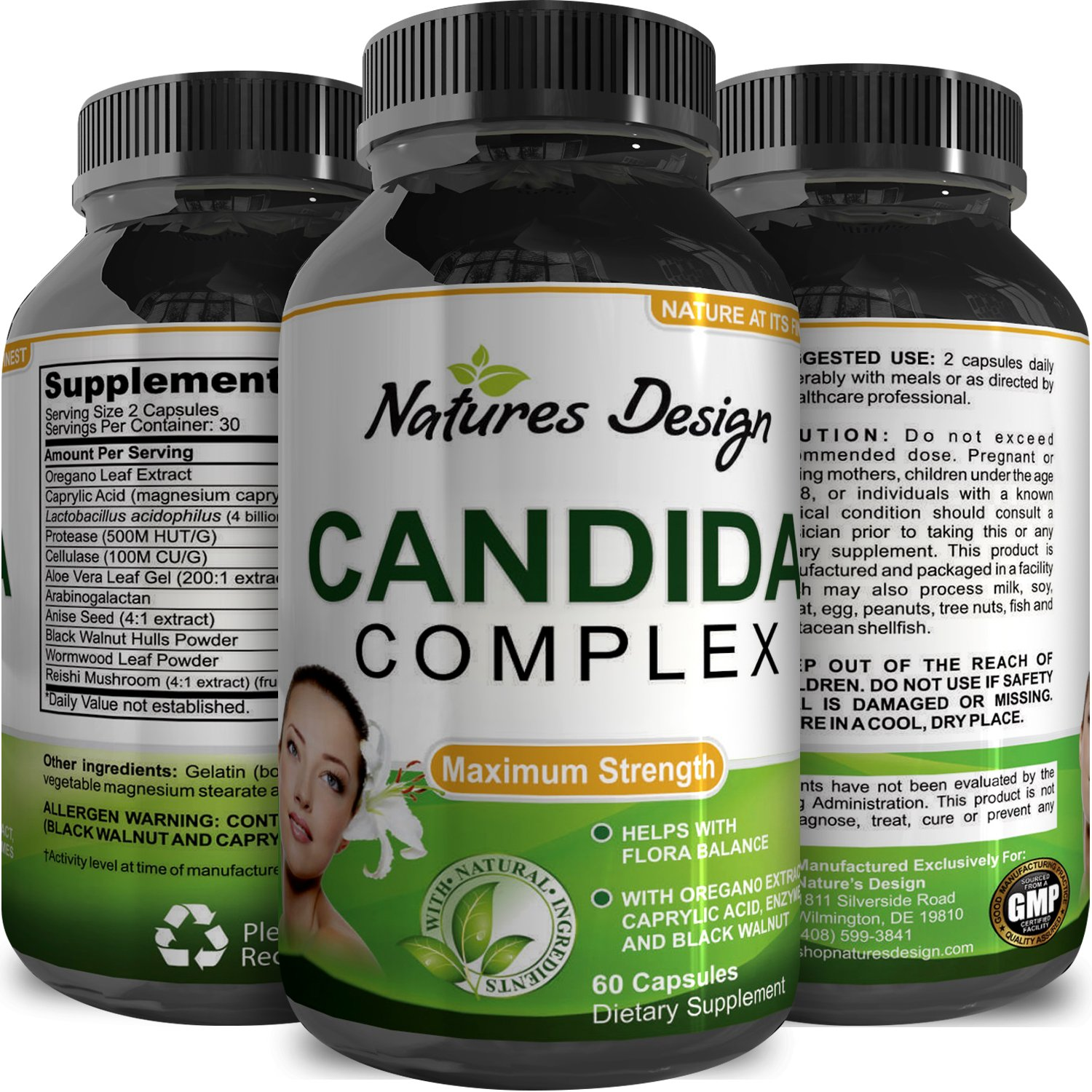 Buy Natural Candida Cleanse – Yeast Detox Supplement with Probiotic