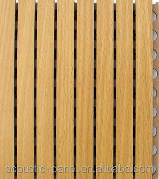 13/3 type grooved wooden acoustic panel for auditorium