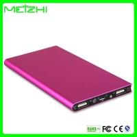 Ultra thin portable battery charger,portable power source,mobile power supply,mobile power bank 8000mah