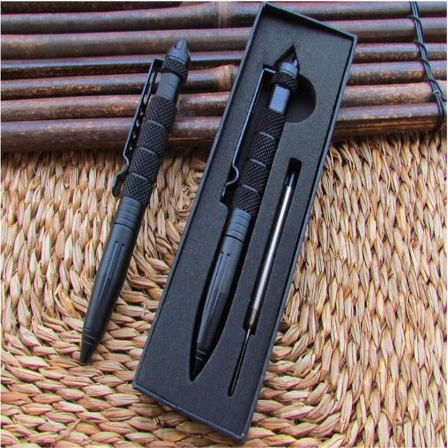 Tactical Pen Self Defense Glass Breaker Emergency Survival Gear Aluminum Refill