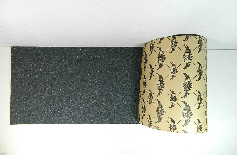 "Jessup 5 Sheets Skateboard Grip Tape, 9"" x 33"", Black"