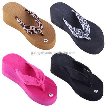 4bb0f137d5a Wedge Flip Flop Women Leopard High Heels Platform Slippers - Buy ...