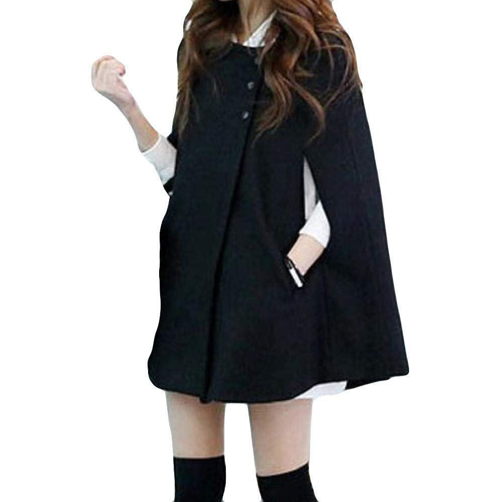 5f2626d4f87 Get Quotations · Womens Tops Clearance Sweatshirt Plus Size Women Plus Size  Fashion Solid Cloak Button Long Coat Shawl