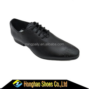 2018 Succinct style Black boys school shoes dress shoes factory price