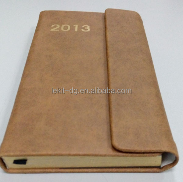 specialized pu leather dated planners