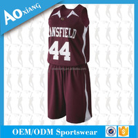 Custom Unique Basketball Jersey Sublimation Printing With Team Logo,Number And Name No Moq