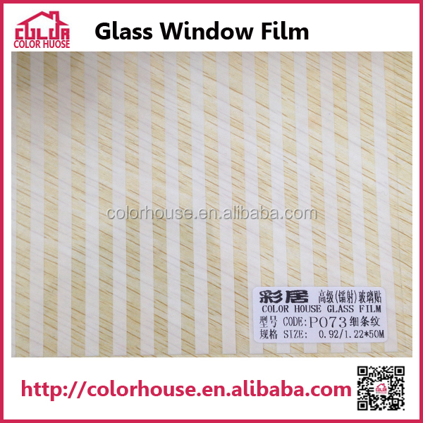 Self adhesive PET window film stain white glass sticker