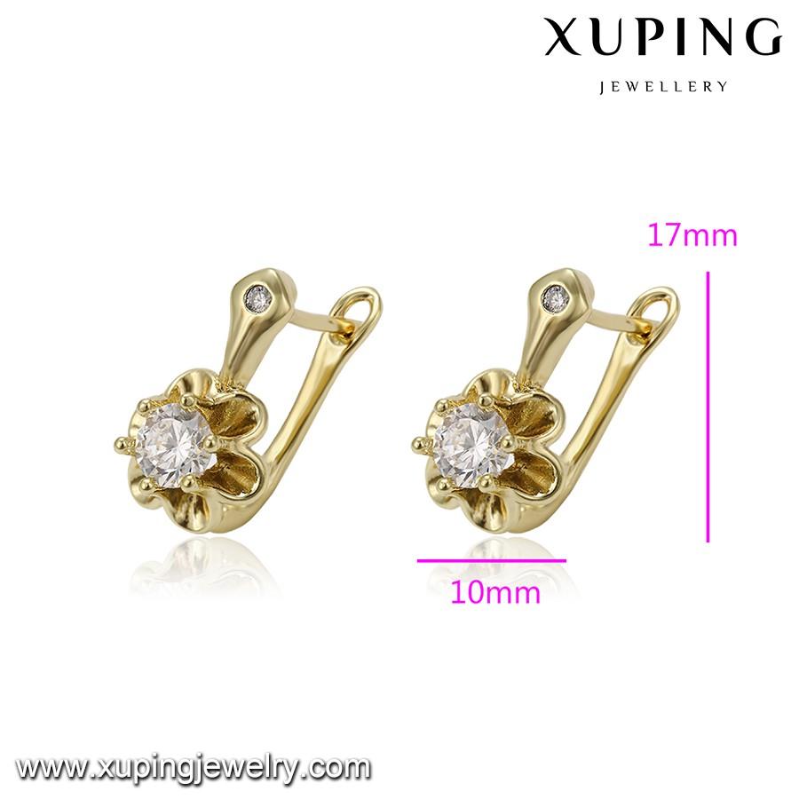 93801 xuping kundan jhumka earrings 14k malabar gold earrings gold