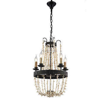 2017 New Design Large Rustic Beaded Clic Candle Chandelier For Dining Room Or Hotel