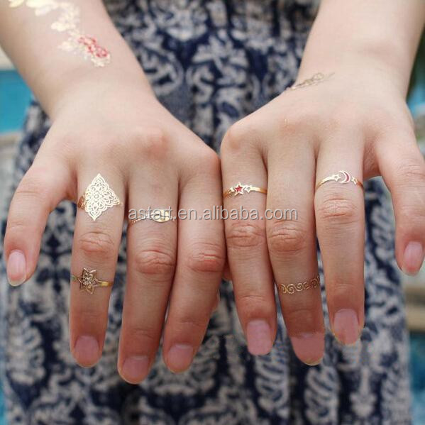 Metallic gold and silver foil temporary tattoo ink for Metallic tattoo ink