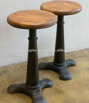 metal industrial furniture. Industrial Furniture Metal Singer Stool With Wooden Top Adjustable Height E