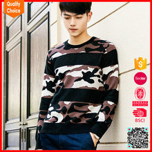 New fashion knitted camouflage wool men pullover sweater