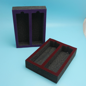 custom epe foam spacer with velvet fabric