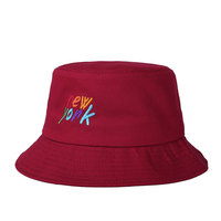 Embroidered Pattern Character Style Cotton Bucket Hat