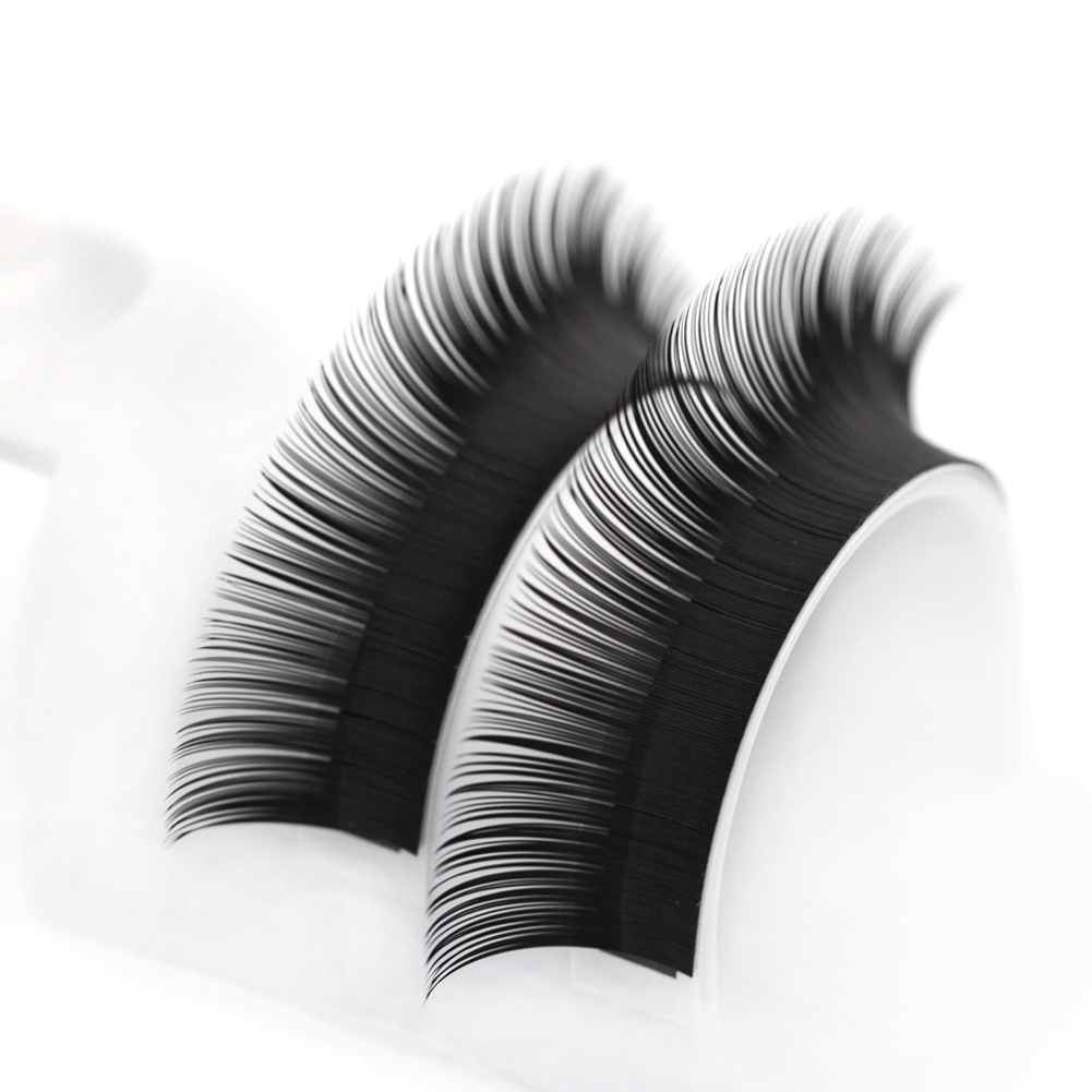 All Size 5 trays Curl natural 12Lines/Tray B/C/D Curl Eyelash Extension Korea Silk Volume Eyelashes Makeup Natural Lashes