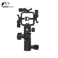 Black 3 In1 All-Metal Adjustable Flash Angle Dslr Point And Shoot Cameras Flash Bracket Mount Adapter