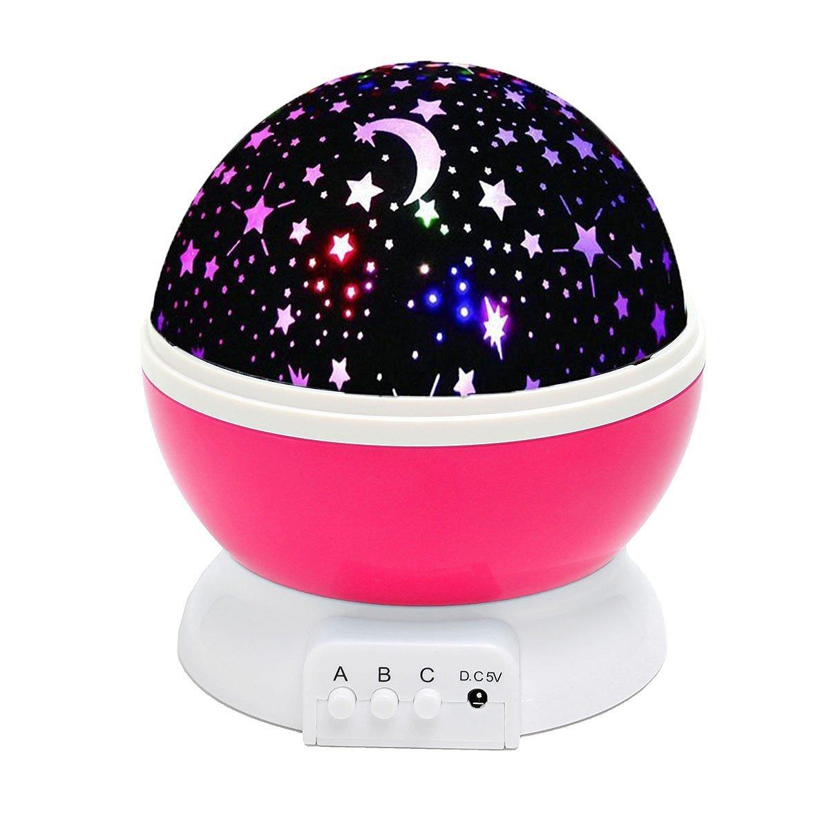 Get Quotations · ELSKY Night Lighting Lamp [ 4 LED Beads, 3 Model Light,  4.9 FT (