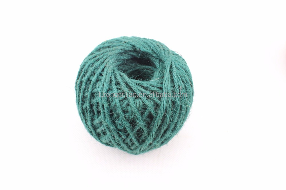 eco-friendly colorful jute string,nature jute fibre jute twine ball