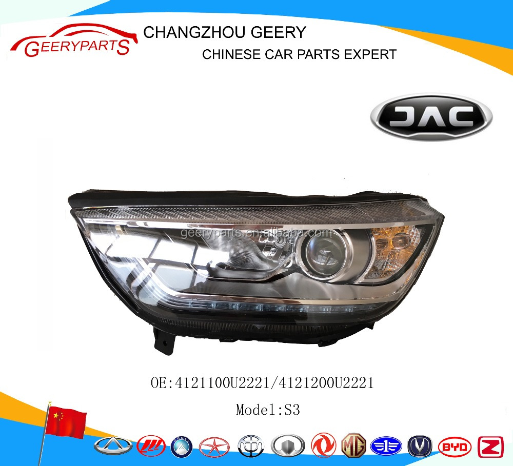 head light auto spare parts jac s3