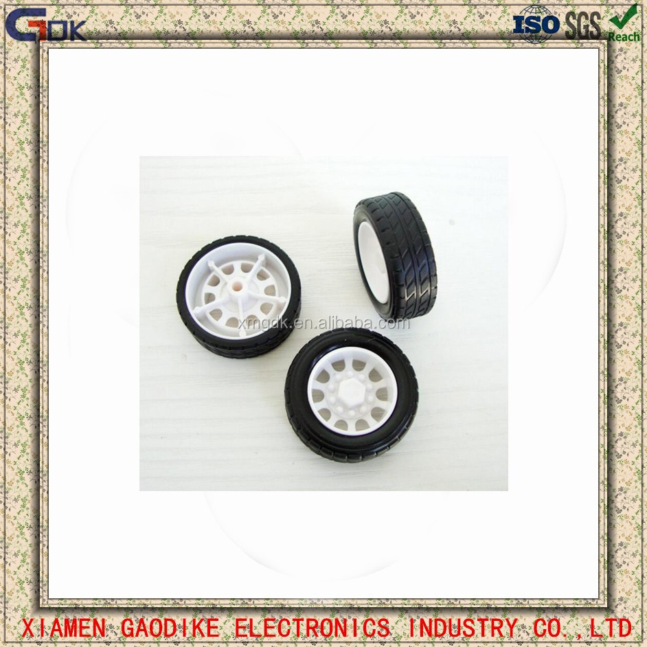 Environmental custom rubber plastic toy car wheels