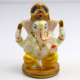 4.72 Inch High Hand Painting Poly Stone Jade Color Indian God Ganesha Statue for Car Decor Hindu Lord Ganesh Statue
