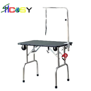 continuous hot sale and folding and portable stainless steel pet grooming table