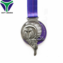 Chinese valentine's day Memorial Marathon medals with ribbon