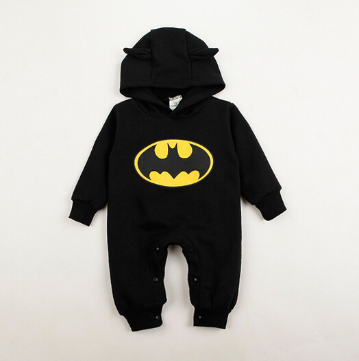 2015 Batman Baby Romper Spring And Autumn Baby Clothes Newborn Clothing Infant Clothes One Piece Romper Newborn Sleepwear TZ0052