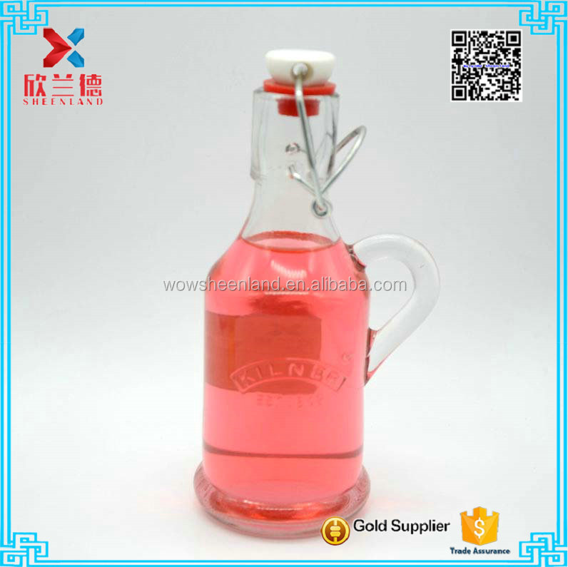 200ml Eco-friendly glass oiler oil and vinegar bottle soy sauce and vinegar cruet glass oil bottle with swing cap