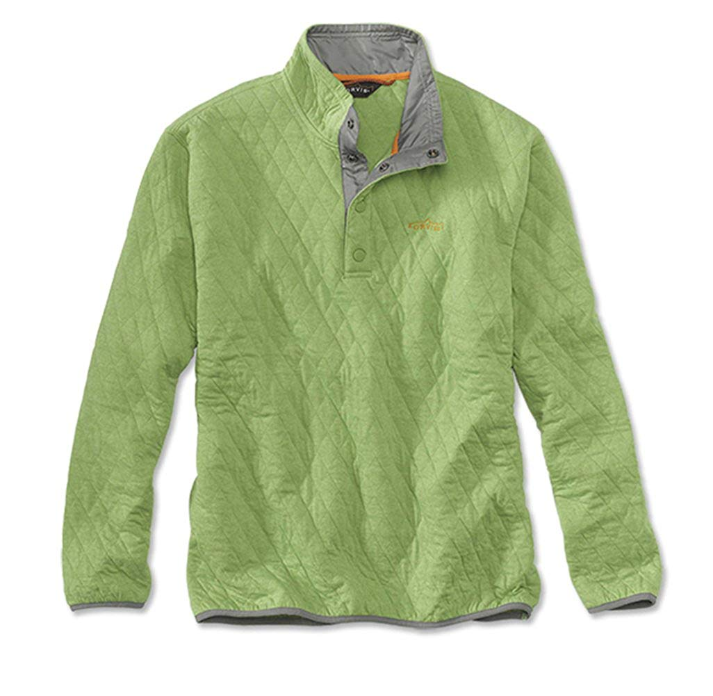 e80d20fbe3 Get Quotations · Orvis Trout Bum Quilted Snap Sweatshirt