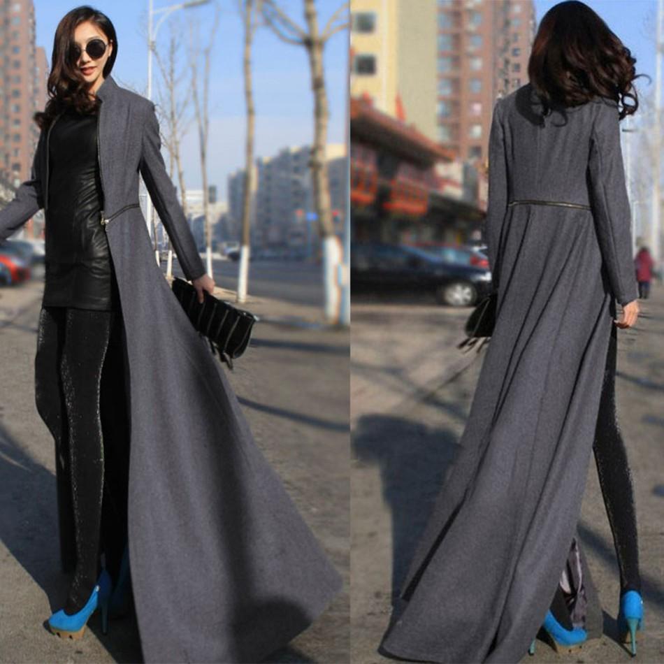 2016 Winter Fashion Women Wool Blends Coat Overcoat Brand
