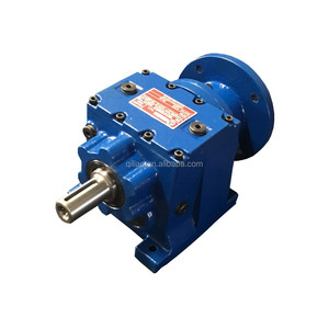 High quality grain auger gearbox, Helical Gear Reducer R series hypoid gears motor redactor variable speed gearbox