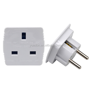 Hs Code Eu Plug Adapter 16a 250v Abs Brass Pin Uk To Eu Adaptor - Buy Hs  Code Adapter,Plug Adapter,Eu Plug Adapter Product on Alibaba com