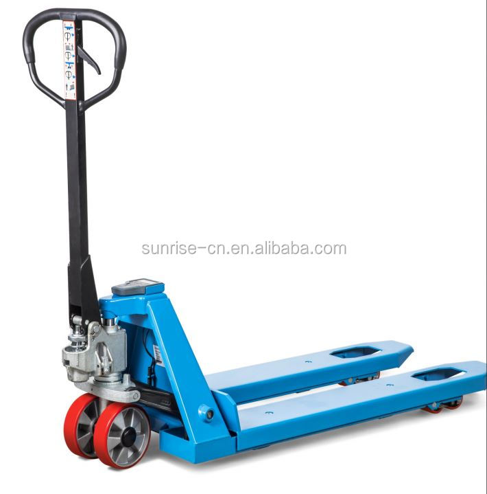 2500kg hydraulic pallet trolleys hand pallet scale weight truck with printer