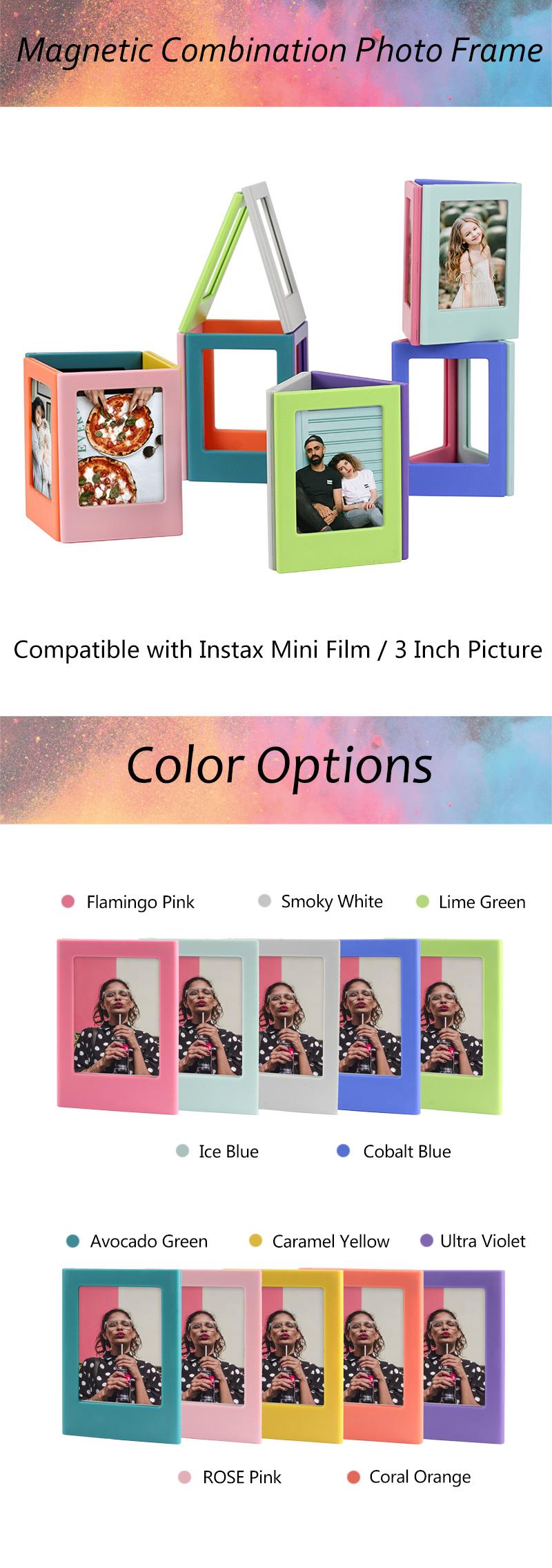 Fujfilm Instax迷你胶片相框的专利DIY组合哑光磁性相框